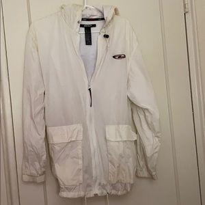 Vintage DKNY white windbreaker jacket size:L